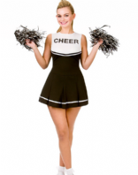 High School Cheerleader Black Costume (EF2183)